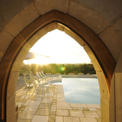 New Sandstone arch opening created to match existing