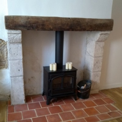 Eymet Stone fireplace
