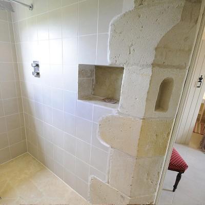 Sandstone corner inside wetroom
